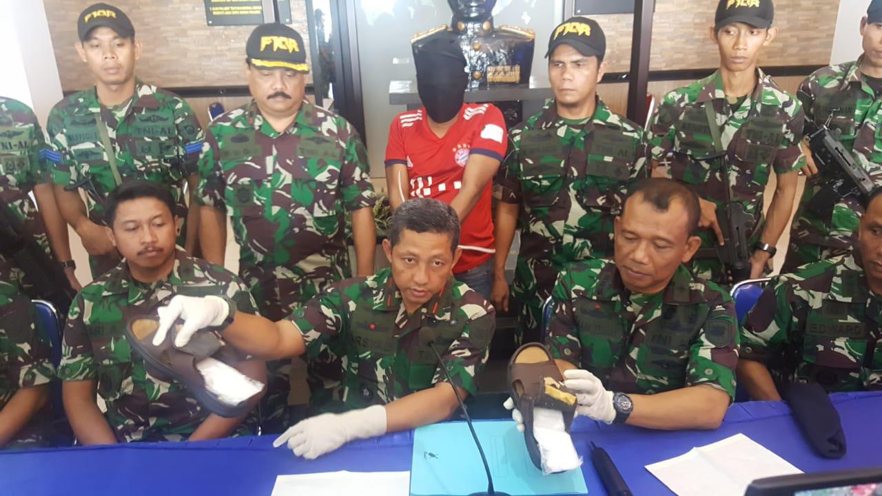Tim F1QR Unit 1/Jatanrasla Lantamal IV Gagalkan Penyelundupan Narkotika
