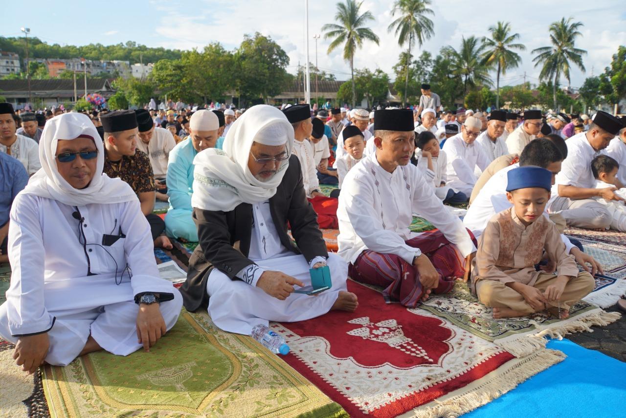 Danlantamal IV Shalat Idul Fitri 1440 H Bersama Ribuan Warga Masyarakat Tanjungpinang
