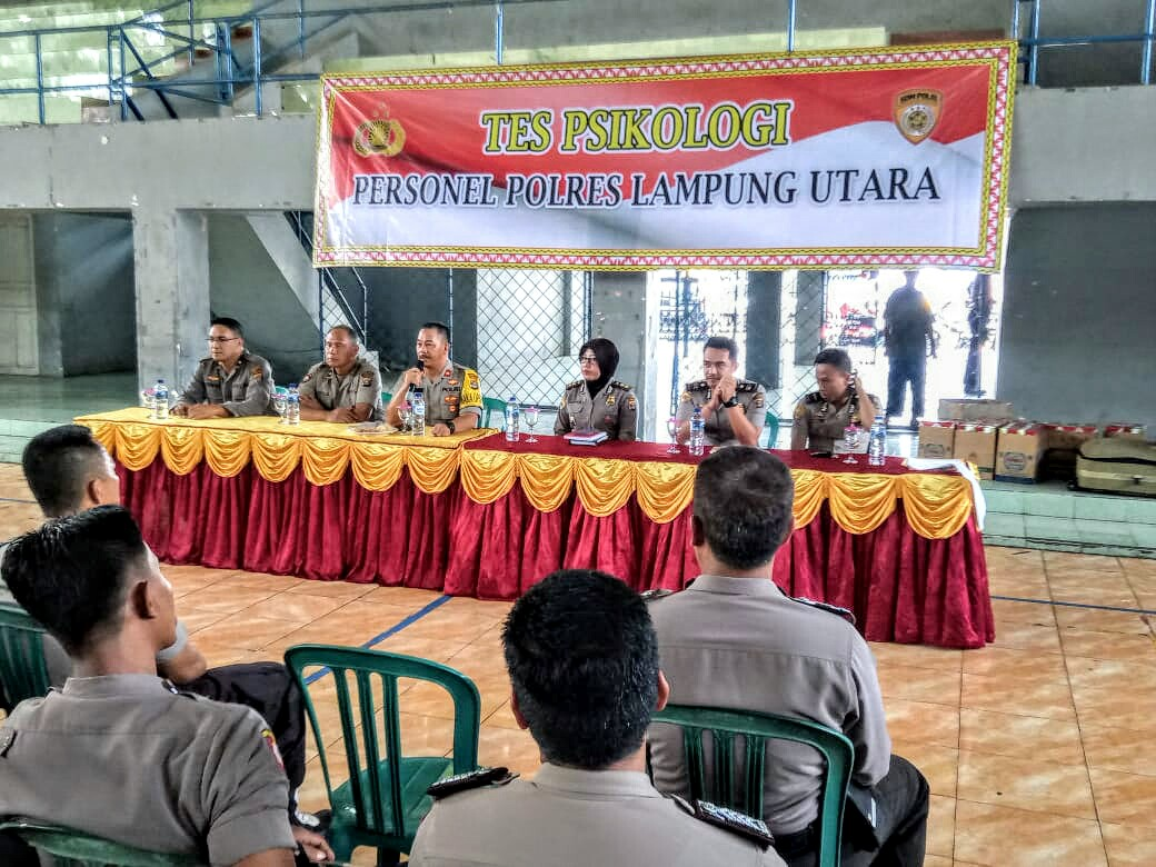 200 Personel Polres Lampung Utara Ikuti Tes Psikologi Untuk Dapat Lesensi Senpi