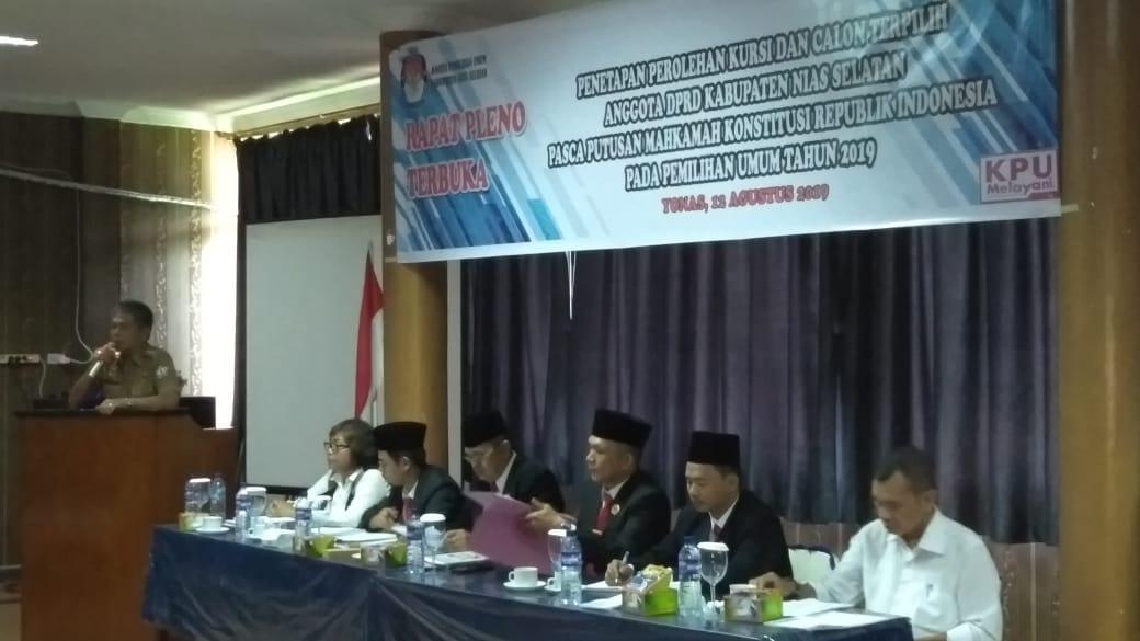 Dari 35 Anggota DPRD Nisel Terpilih Periode 2019 – 2024 Ada Anak Muda Lo !!