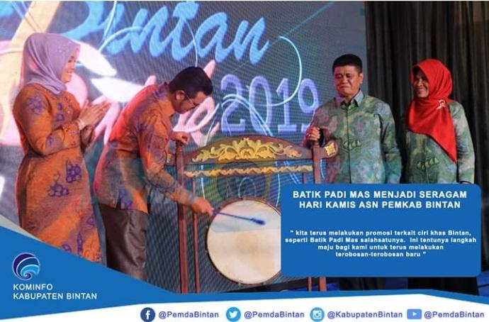 Pemkab Bintan Putuskan Batik Padi Emas Jadi Pakaian Seragam Pegawai