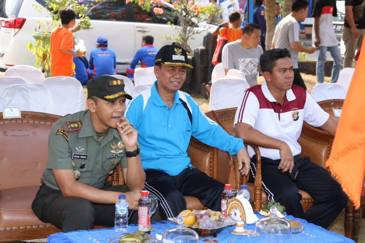 Dandim 0412/LU Ikut Meriahkan Perayaan HUT RI Yang diadakan Pemkab Lampura