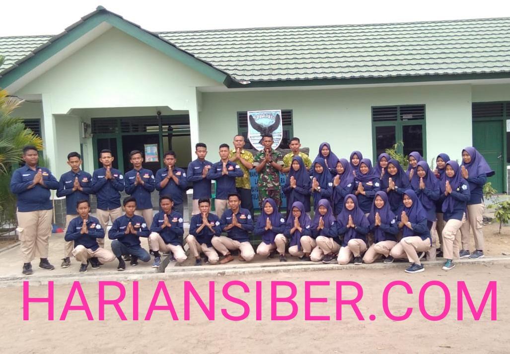 SMK Muhammadiyah Tumijajar Kunjungi Koramil 412-05/Tbu