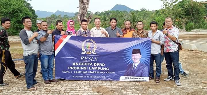 Komisi II DPRD Provinsi Lampung Jalani Reses di Lampura
