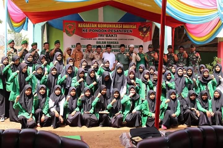Kodim 0412/LU Jalin Sinergitas Dengan Pondok Pesantren Baitussalam