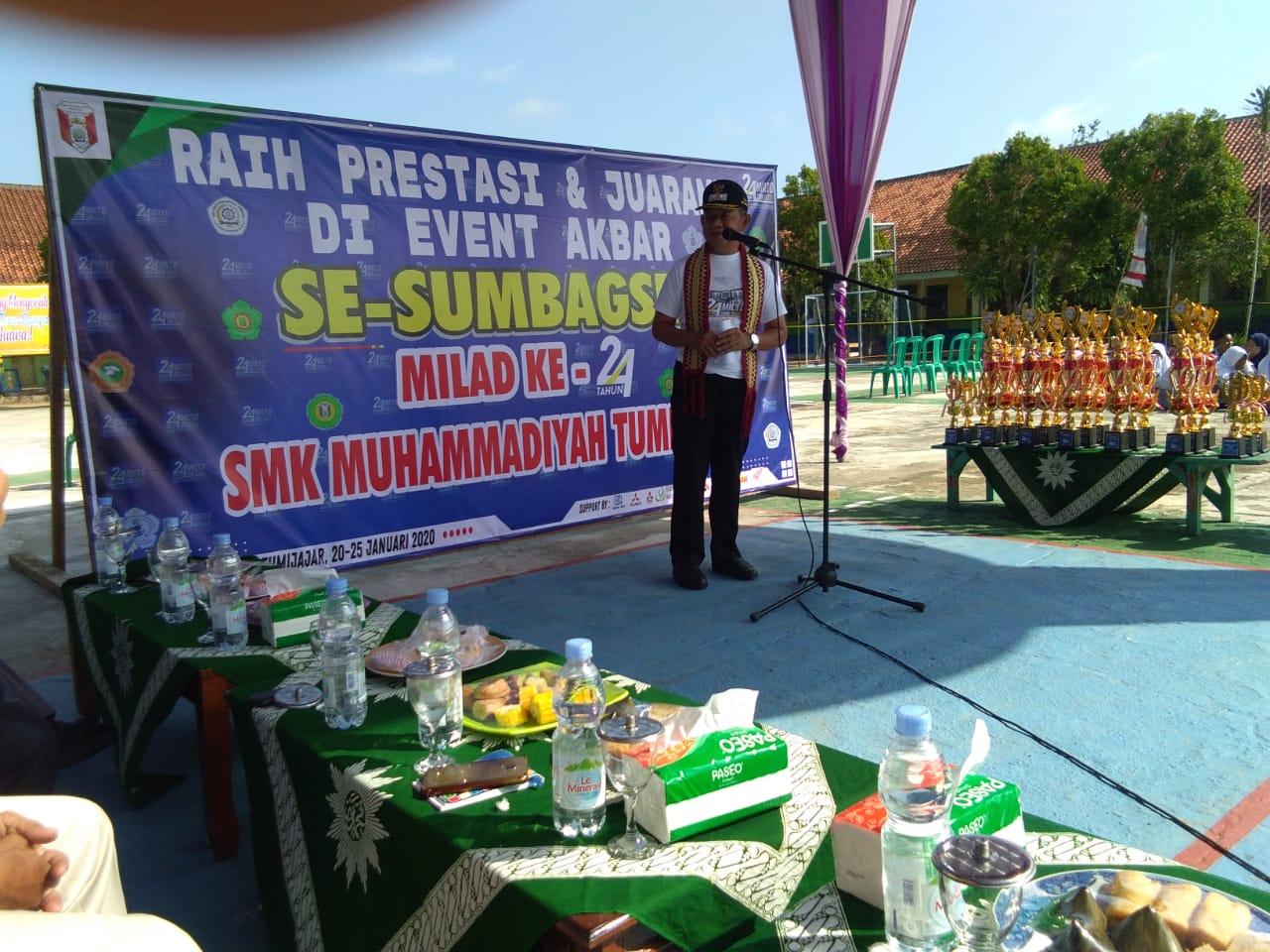 SMK Muhammadiyah 1 Kecamatan Tumijajar Rayakan Milad Ke II