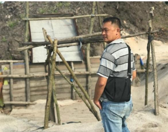 Polisi Segel Tambang Pasir Ilegal di Bintan