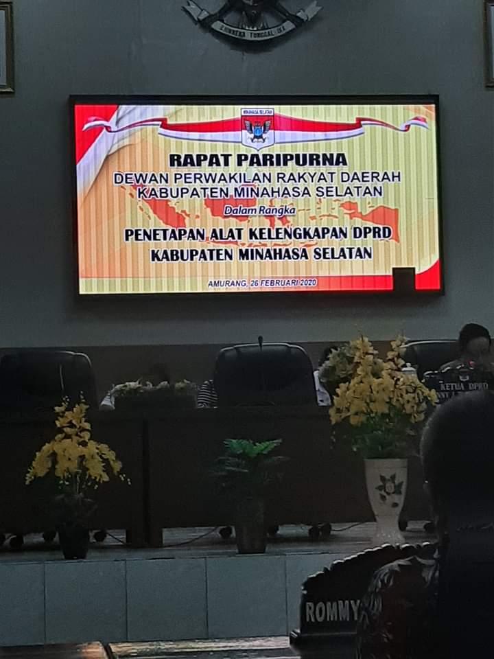 Rapat Paripurna DPRD Minahasa Selatan di Kawal Ketat Polisi