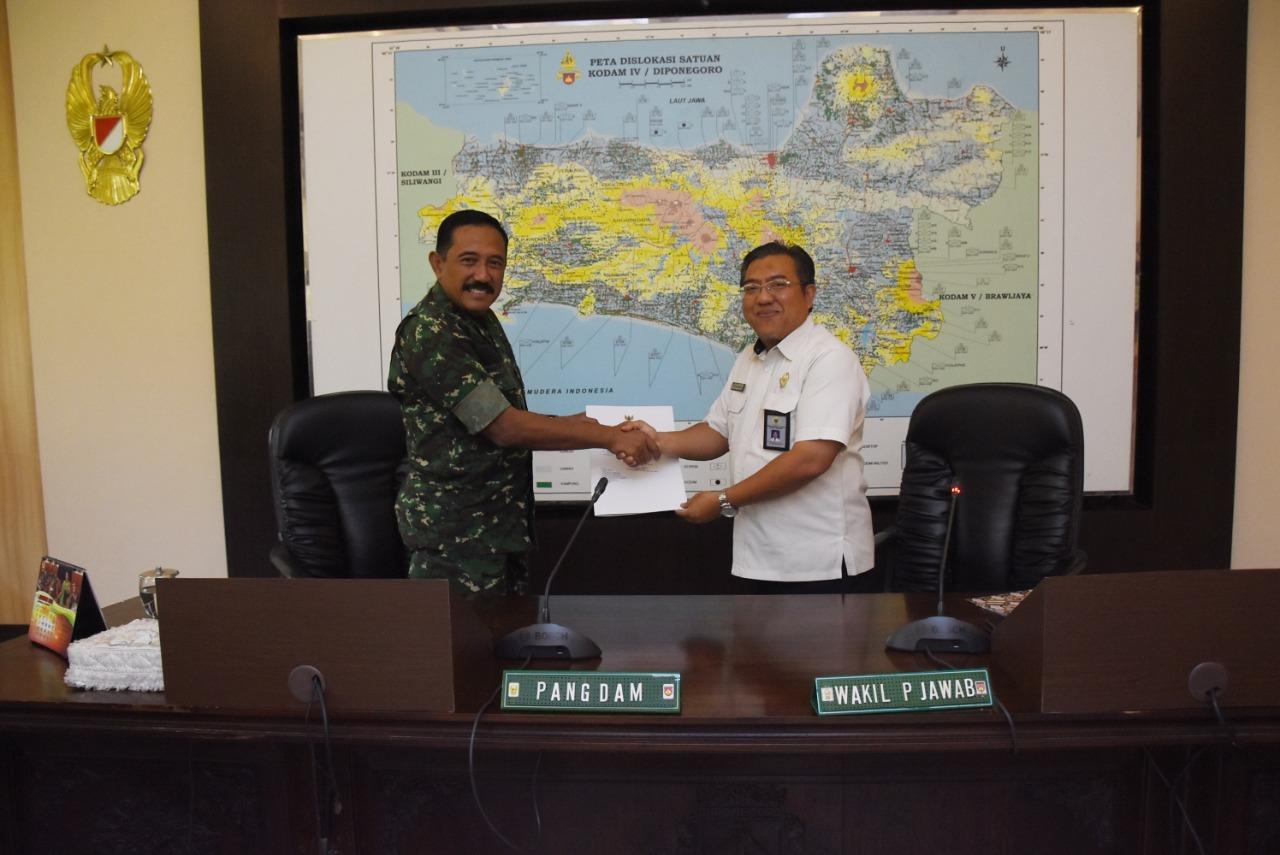 Kedatangan Tim Wasrik BPK, Pangdam IV/Diponegoro Minta Berikan Data Obyektif dan Transparan