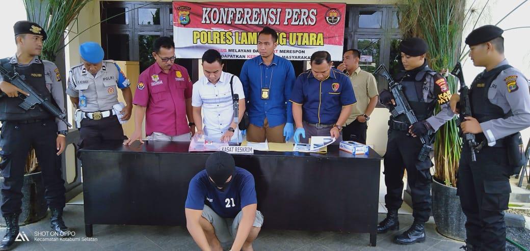 Melanggar UU ITE, AG diamankan Polres Lampung Utara