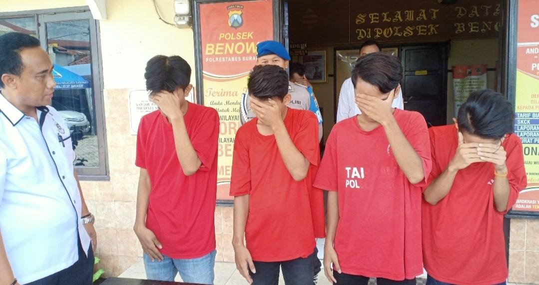 Empat Pemuda Diciduk Polisi Saat Sedang Melakukan Pesta Sabu