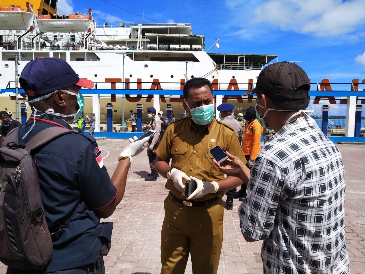 Tidak Ada ODP, Dalam Pemeriksaan Penumpang KM Tidar Yang Tiba Tual