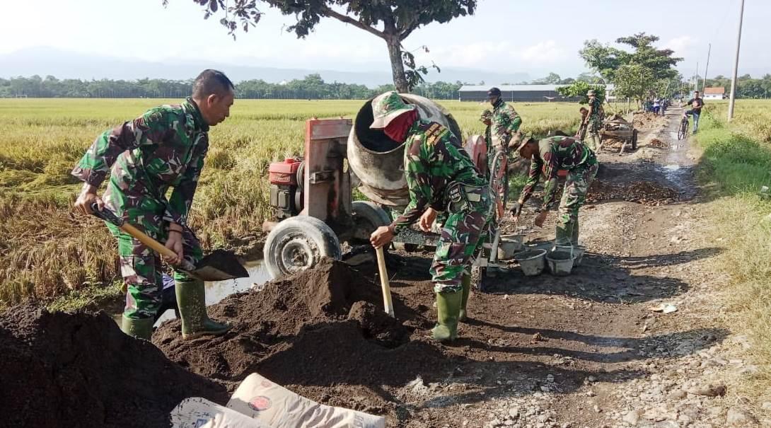 Satgas TMMD Diminta Kebut Pembangunan Talud di Dukuh Jlubang