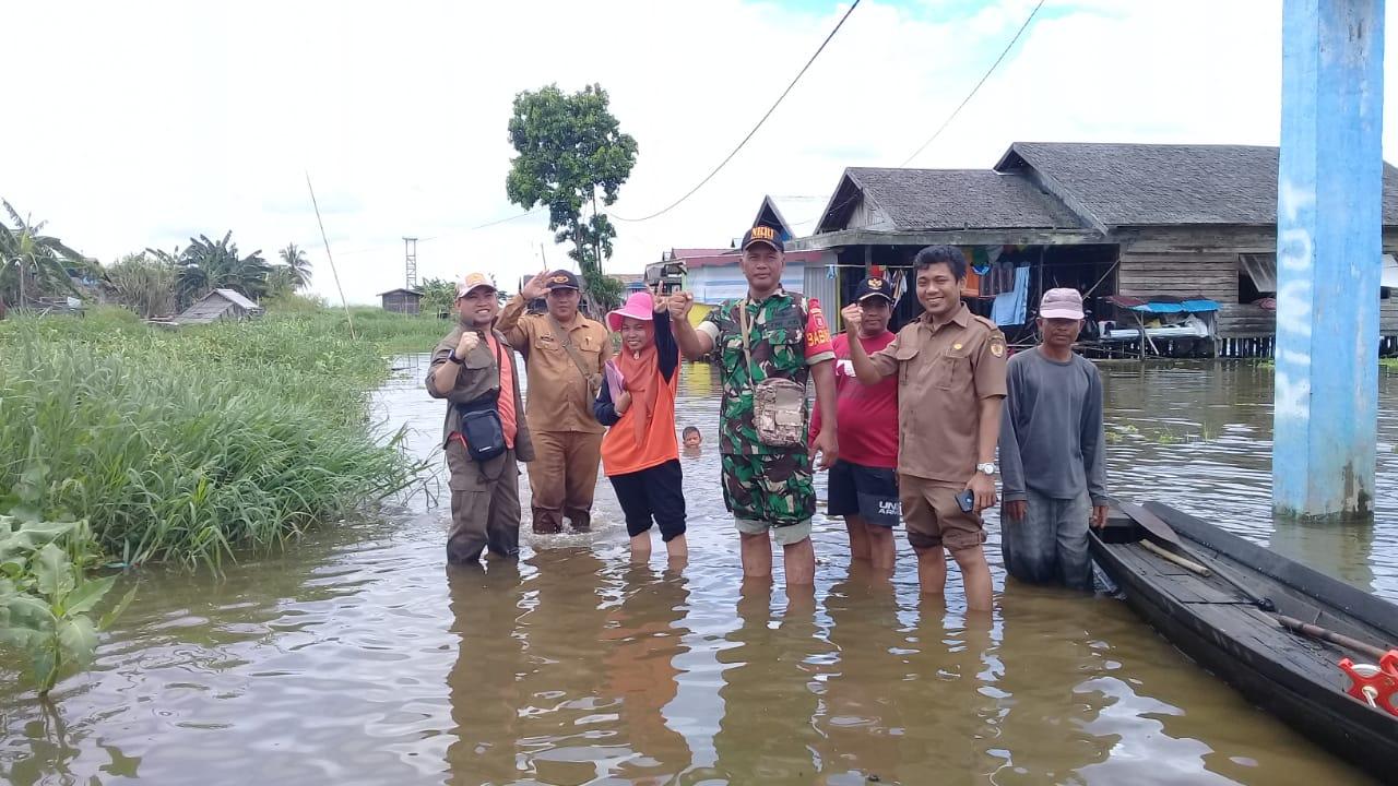 Babinsa Kasarangan Dampingi Tim Sertifikasi Pembangunan Fisik Desa Ta.2019.