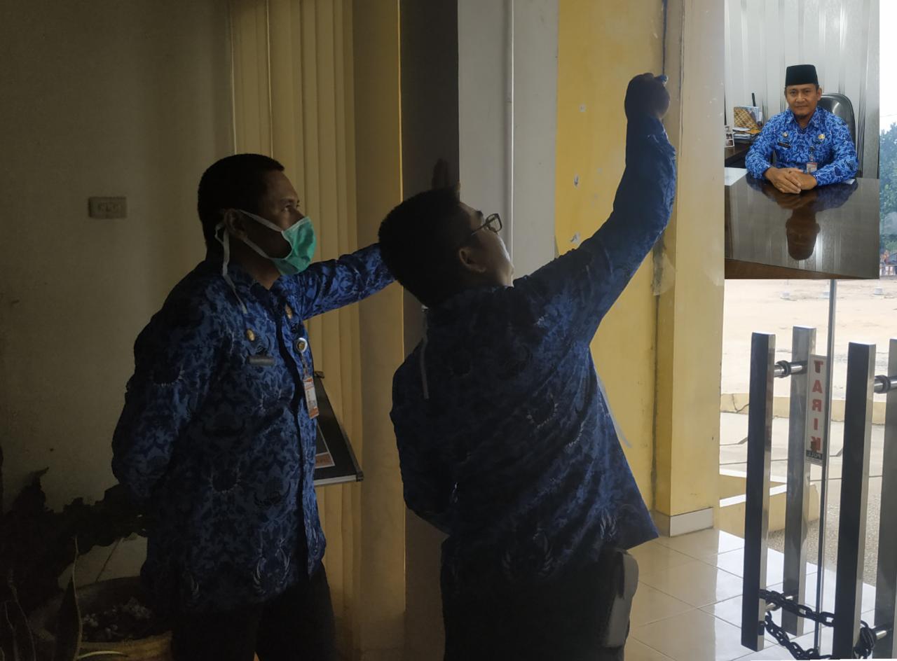 """Karna virus"""" Pelayanan Disduk Capil Tubaba dihentikan sementara"""