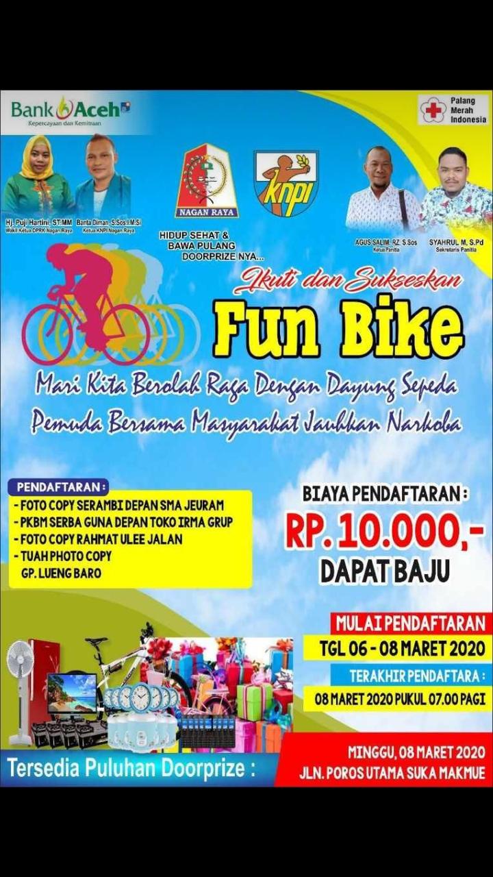 Fun Bike dan Senam Jantung Sehat Bersama di Kompleks Perkantoran Suka Makmue