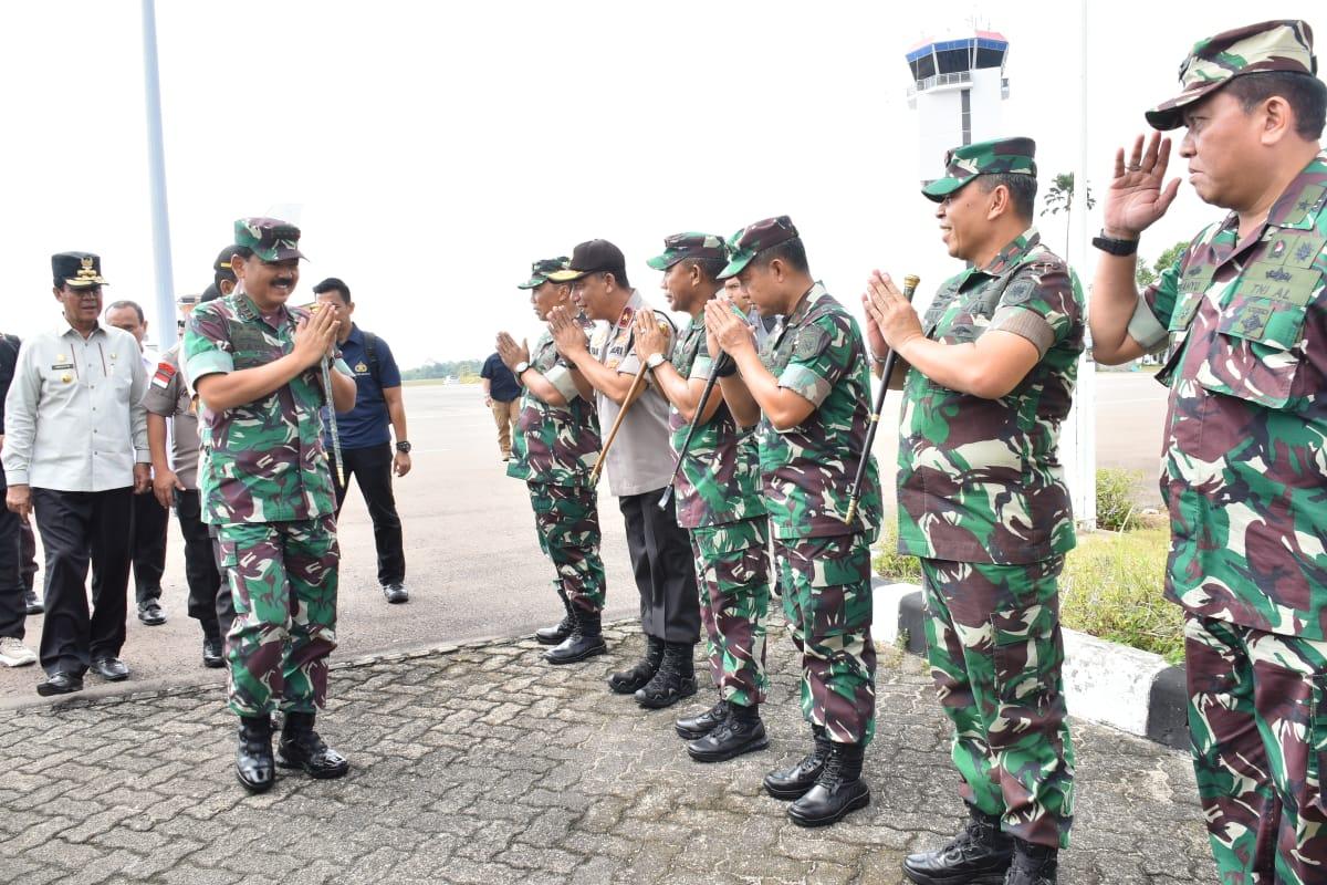 Sambutan Kedatangan Panglima TNI Marsekal Dr.Hadi Tjahjanto, S.I.P