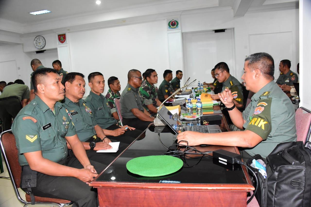Tim Itjenad Laksanakan Wasrik di Korem 091/ASN