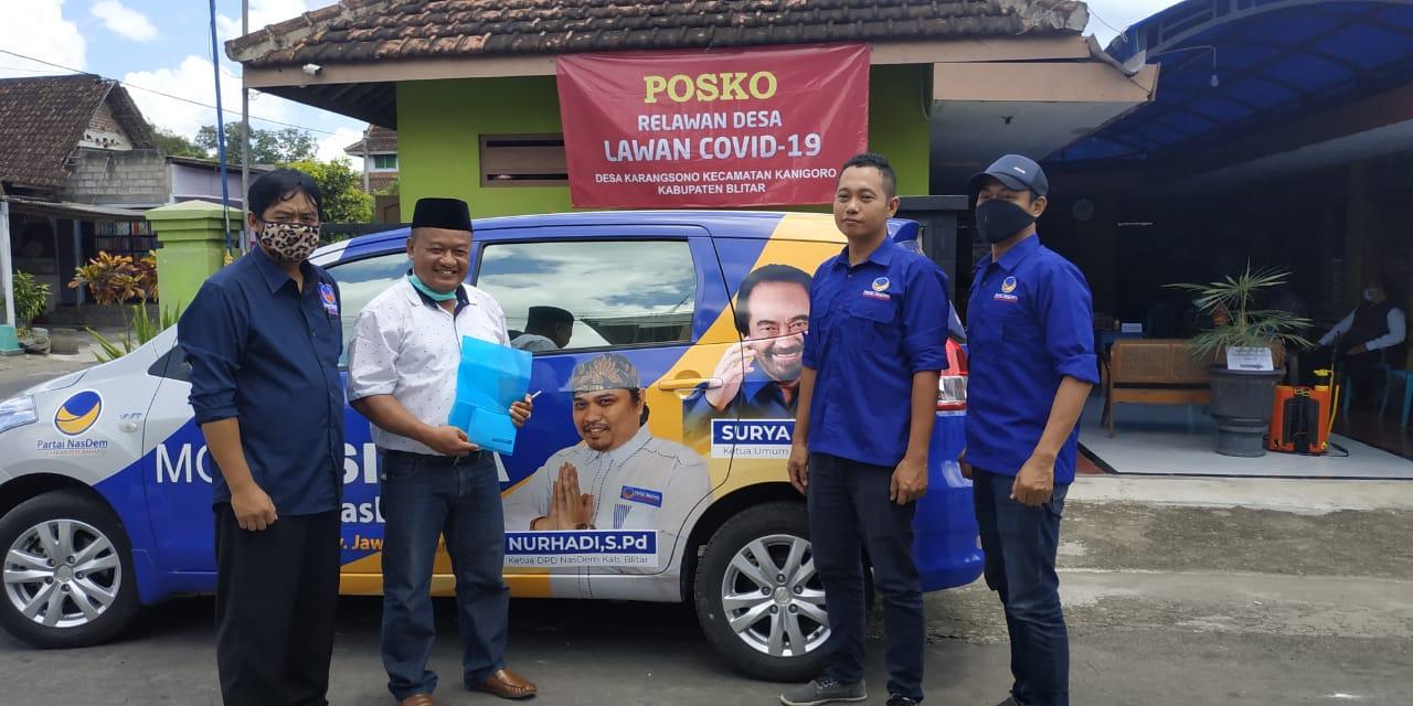 Anggota DPR RI Turut Datang ke Desa Karangsono Blitar Bantu 11 Warga Dikarantina
