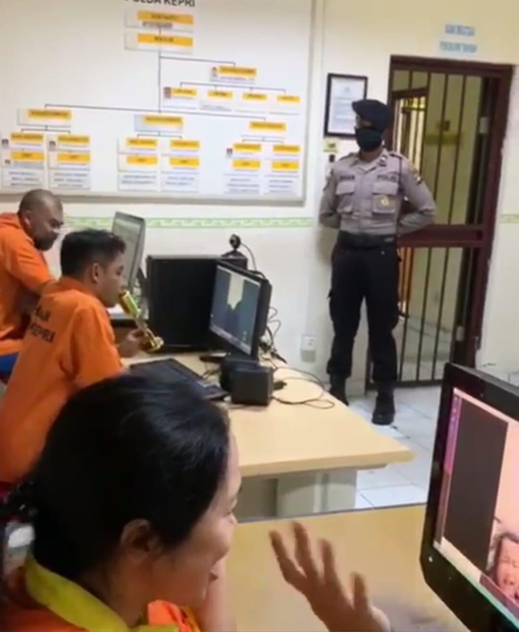 Polda Kepri Ganti Kunjungan Tahanan Dengan Cara Online