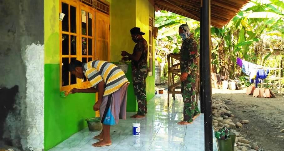 TNI Yang Ahli Pengecatan Tangani Rehab Rumah Manis