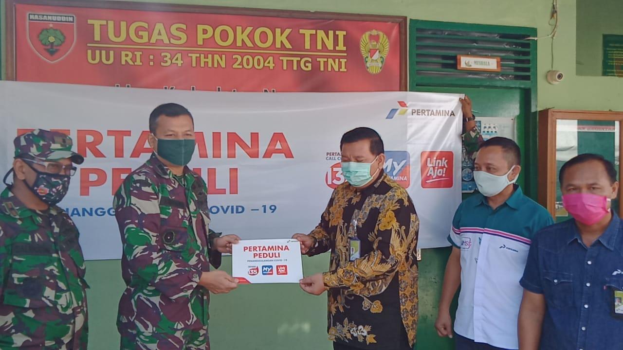 Peduli Covid-19, Pertamina (MOR) VII Makassar Salurkan Beras 1 ton Ke Kodim 1408/BS Untuk Dapur Umum