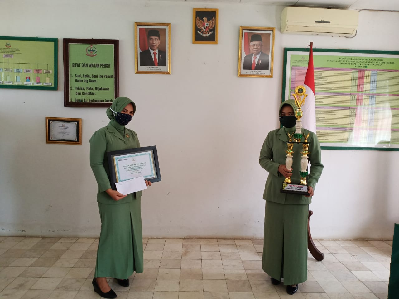 Persit Kodim Barabai Raih Juara Satu Lomba Wanita Inspiratif Tingkat Kodam VI/Mlw