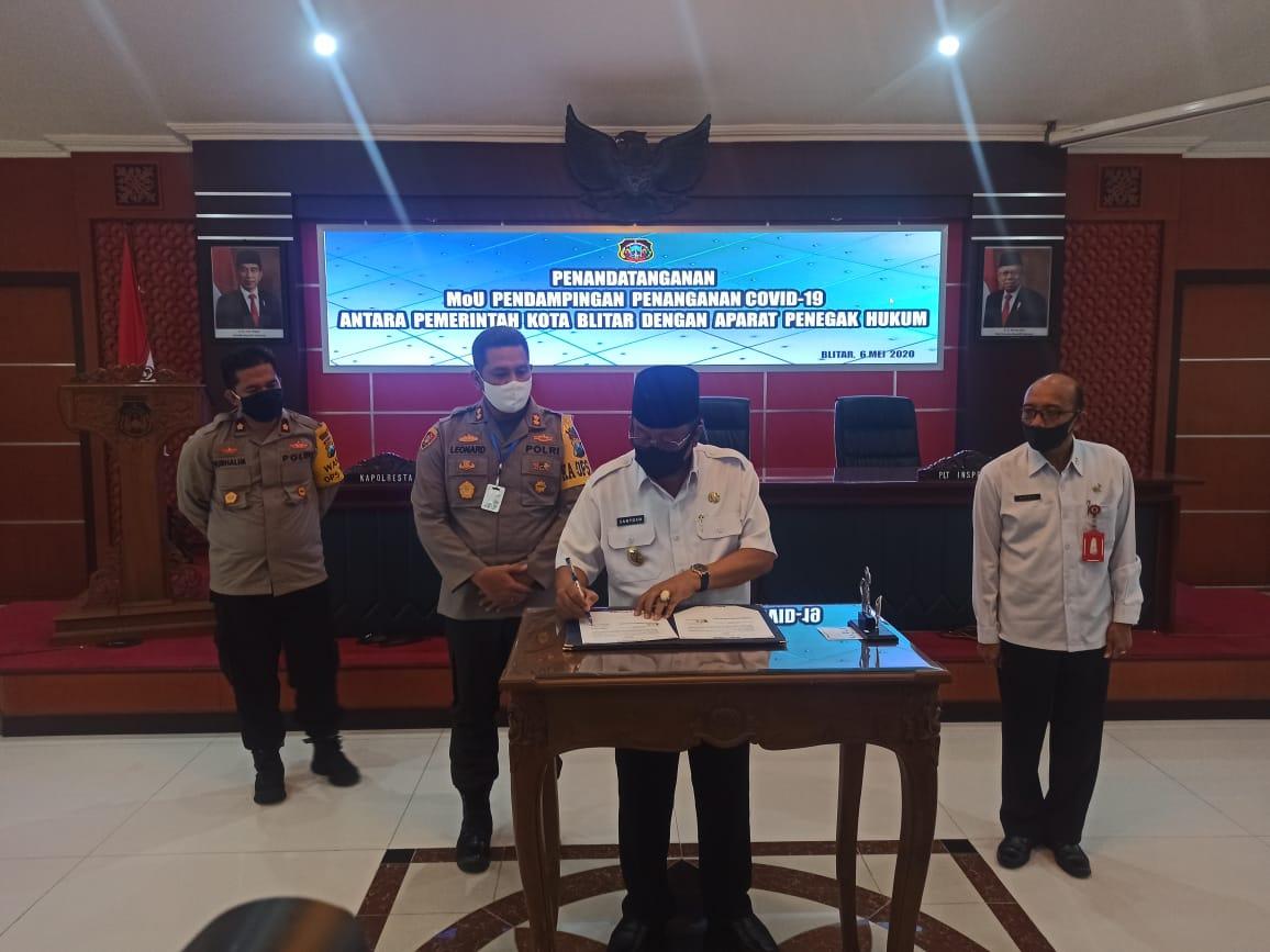 Cegah Penyelewengan Refocusing Corona, Pemkot Blitar dan Kepolisian Gelar MoU