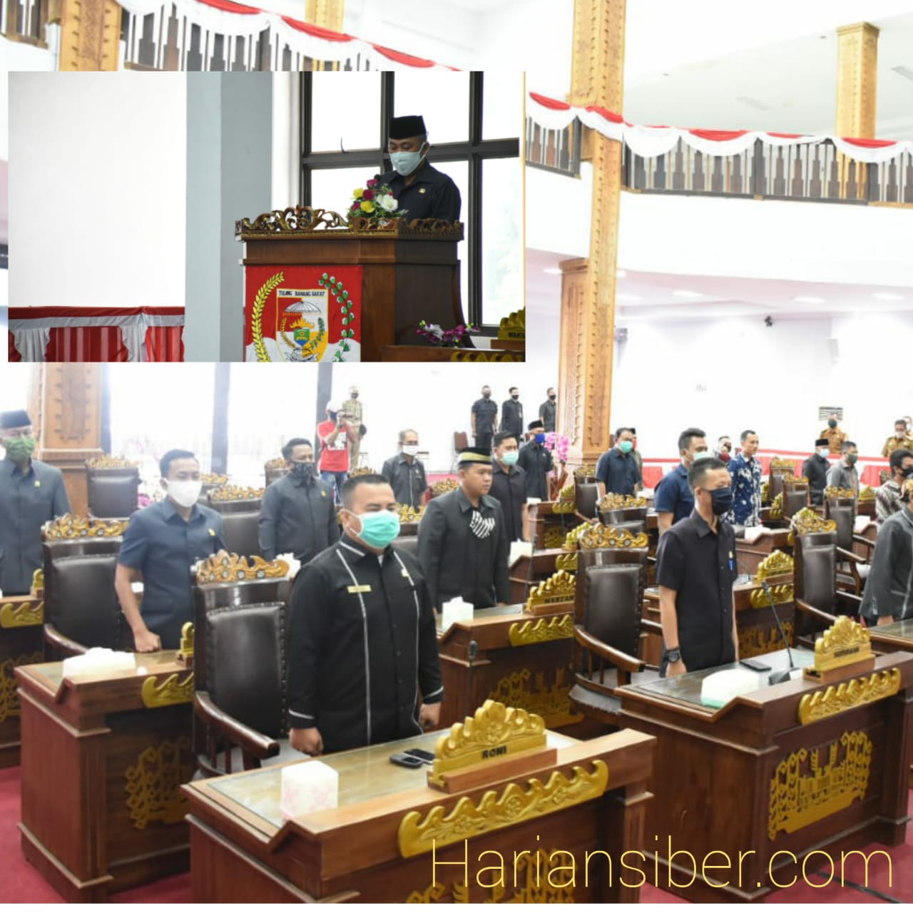 Bupati Umar Ahmad menyampaikan LKPJ 2019 DPRD Tulang bawang barat