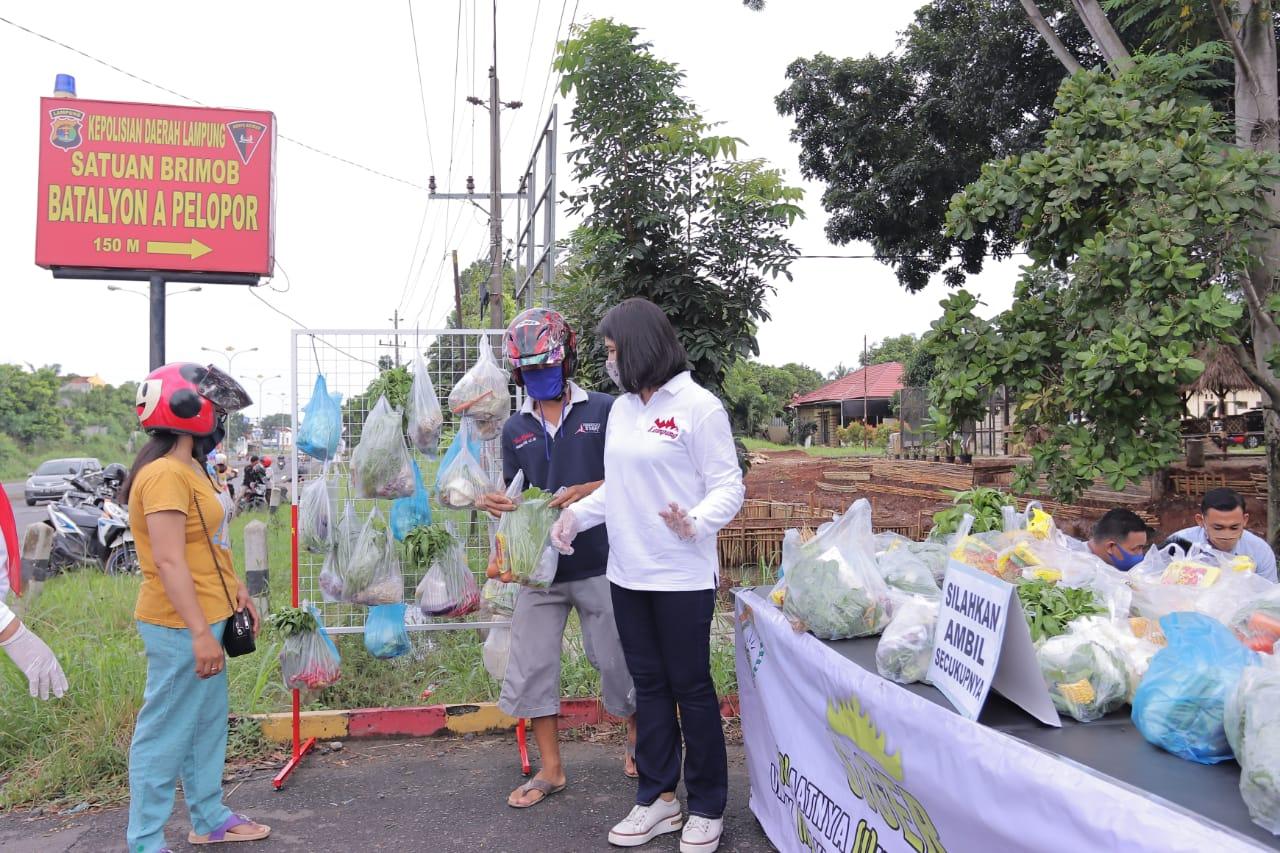 Bhayangkari Polda Lampung Melaksanakan Gerakan SIGER Serentak