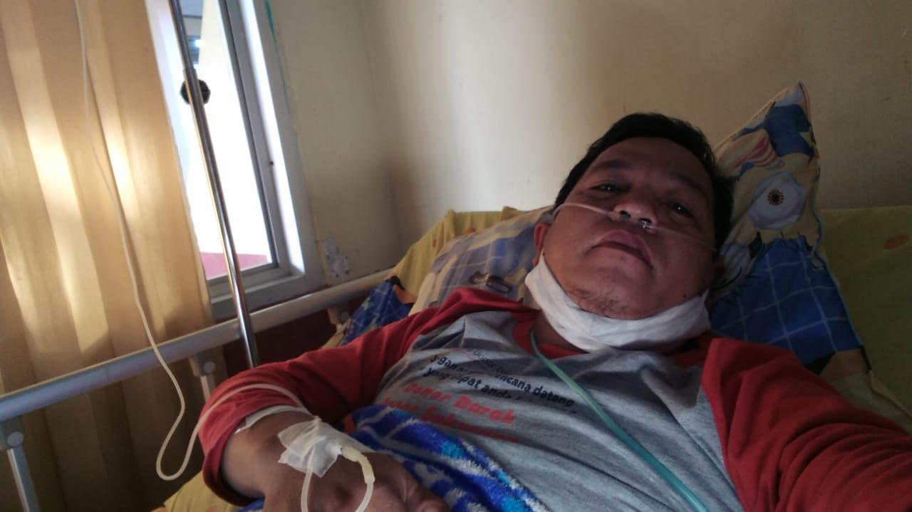 Karena Kelelahan Staf PMI Lampung Utara dirawat di Rumah Sakit