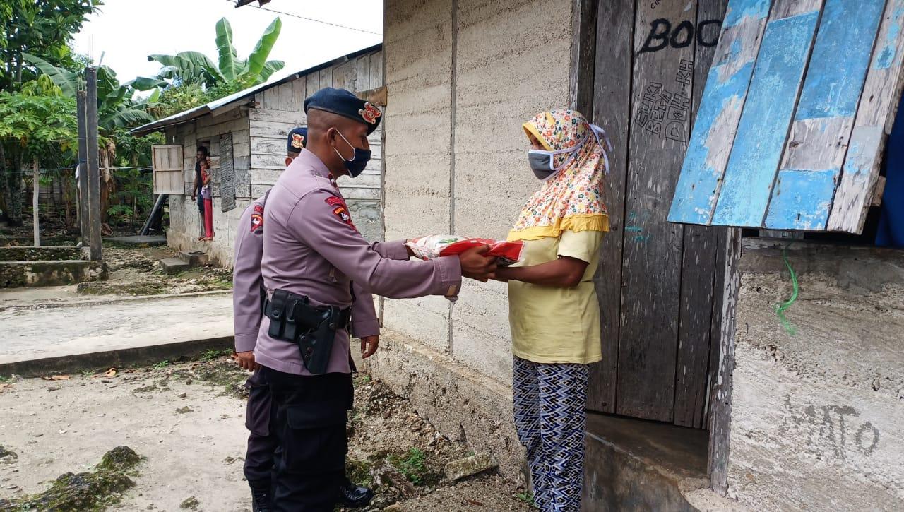 Di Hari Lahir Pancasila, Batalyon C Pelopor Brimob Polda Maluku Berbagi Kasih