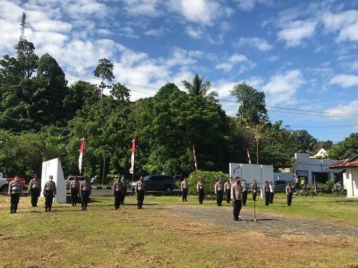 Jelang Hari Bhayangkara Polres Minsel gelar upacara ziarah di Taman Makam Pahlawan Utamakan Protokoler Kesehatan