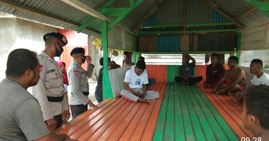 Brimob Batalyon C, Sambang masyarakat Di Desa Tamedan