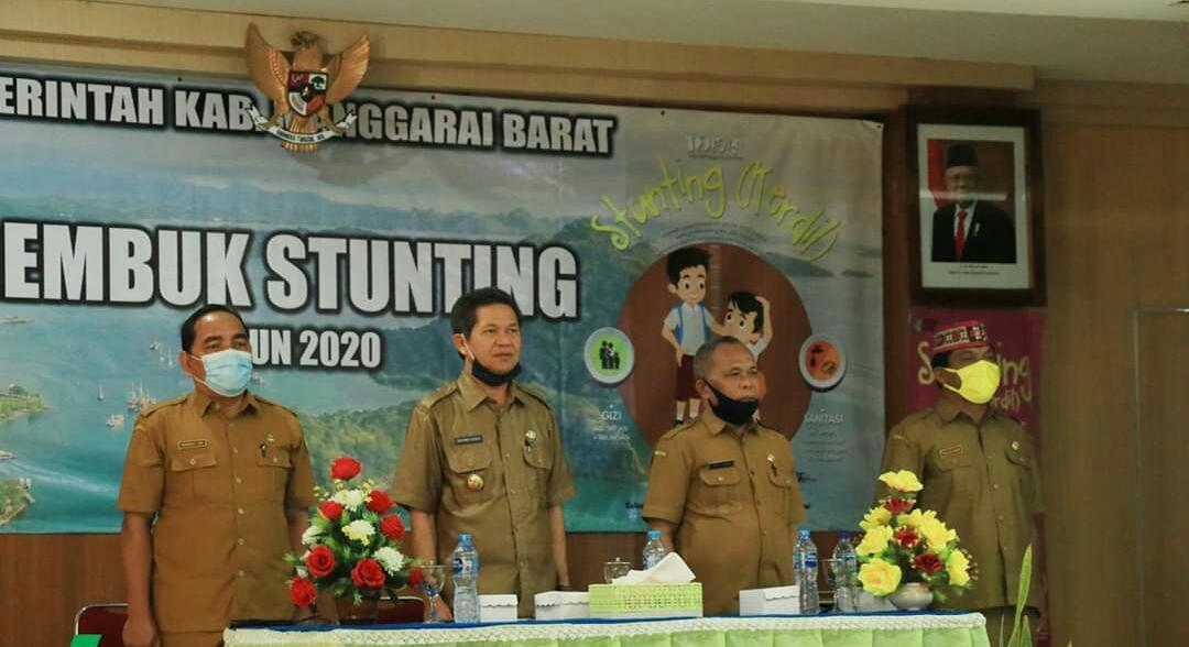 Bupati Manggarai Barat,Membuka Kegiatan Rembuk Stunting Dinkes Mabar.