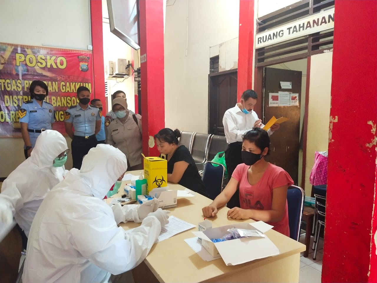 Jelang Pemindahan Ke Rutan, Polres Tanjungpinang Kembali Laksanakan Rapid Test Terhadap Tahanan