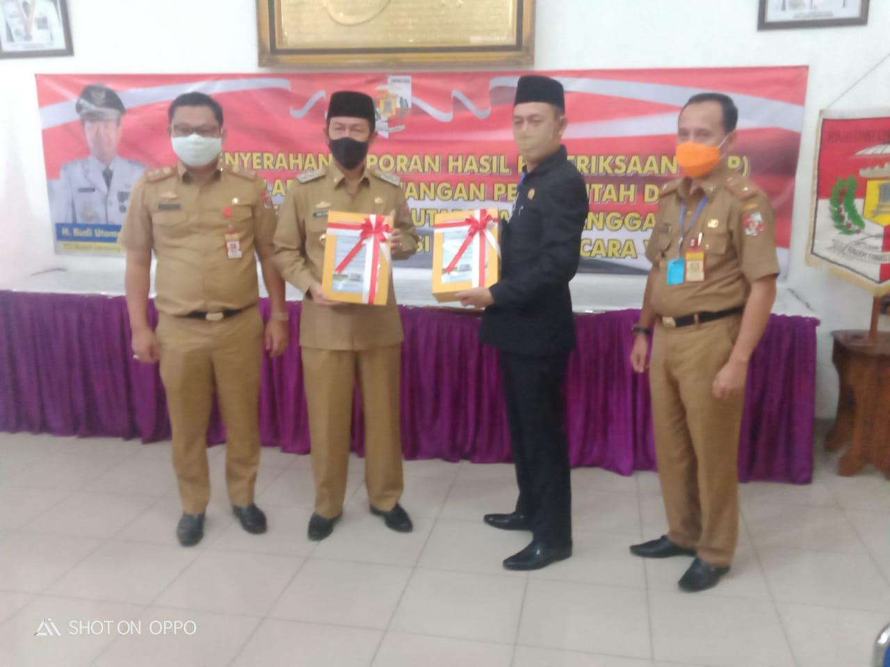 Hadiri Penyerahan LHP dari BPK Perwakilan Lampung, ini kata Ketua DPRD Lampura