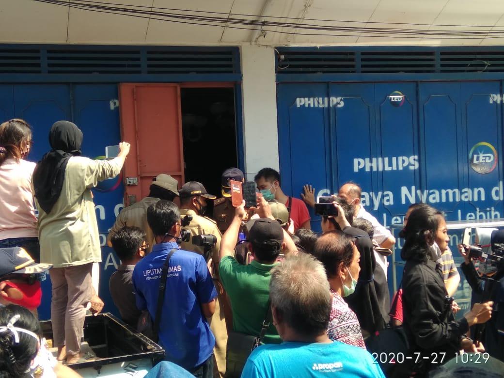 Pengamanan Aset Pemkot Tegal Diwarnai Aksi Protes Penghuni Ruko