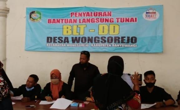 Desa Wongsorejo Salurkan BLT-DD Tahap Ketiga Untuk 279 Penerima Mamfaat