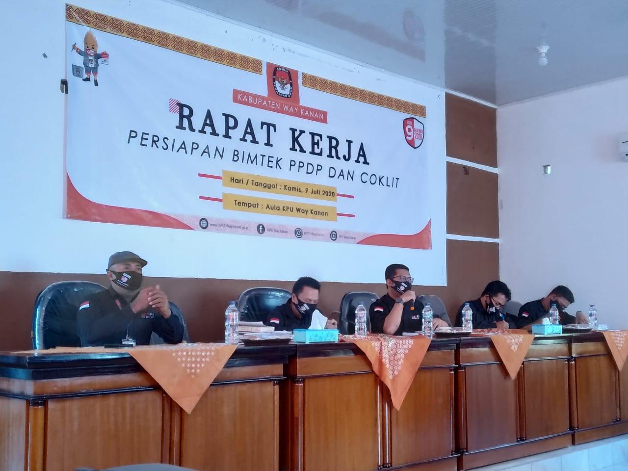 KPU Waykanan Segera Tetapkan 991 PPDP Untuk Lakukan Coklit Data Pemilih