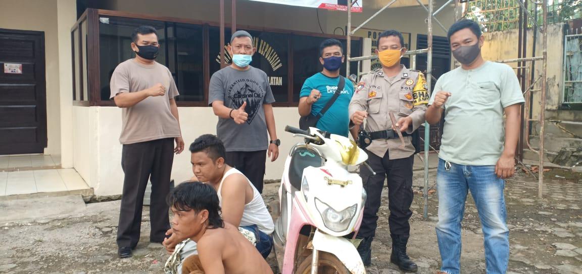 Unit Reskrim Polsek Sungkai Selatan Amankan Dua Pelaku Curatmor, Satu diantaranya Residivis Kasus Serupa