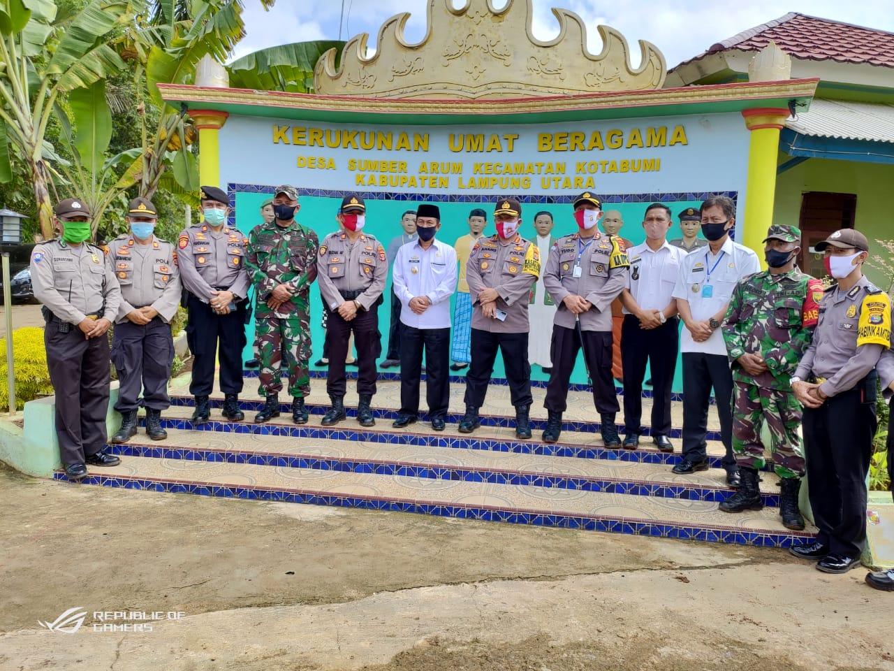 Dir Binmas Polda Lampung dan Kapolres Lampura Hadiri Lounching Peresmian Kampung Tangguh Nusantara