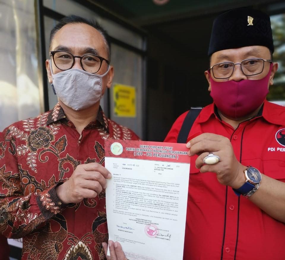 Rekom Sudah Ditangan, Santoso – Tjutjuk Langsung Konsolidasi Menangkan Pilwali Blitar 2020