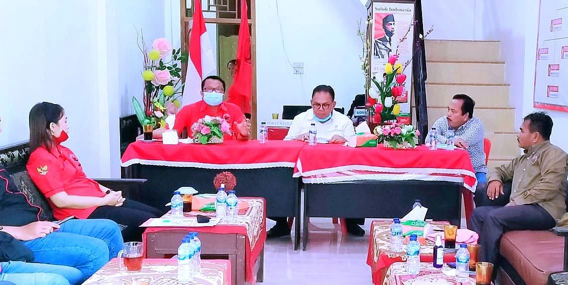 Rapat Konsolidasi Internal PDIP Di Kabupaten Nias Barat Berjalan Sukses