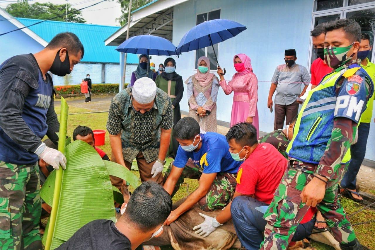 Rayakan Idul Adha 1441 H/2020M, Lanud RHF Sembelih 10 Hewan Kurban