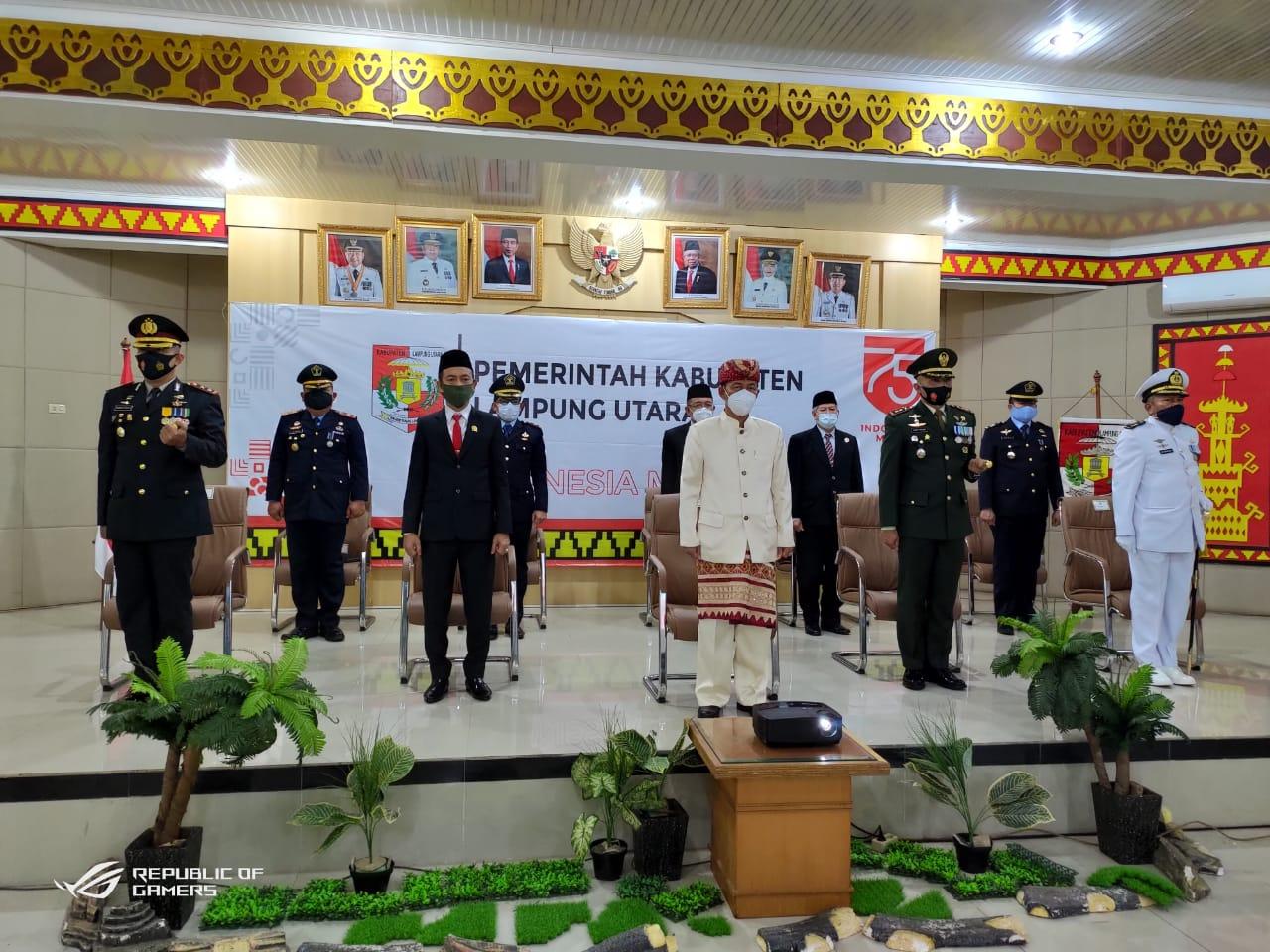 Kapolres Lampura Ucapkan Dirgahayu Republik Indonesia ke-75