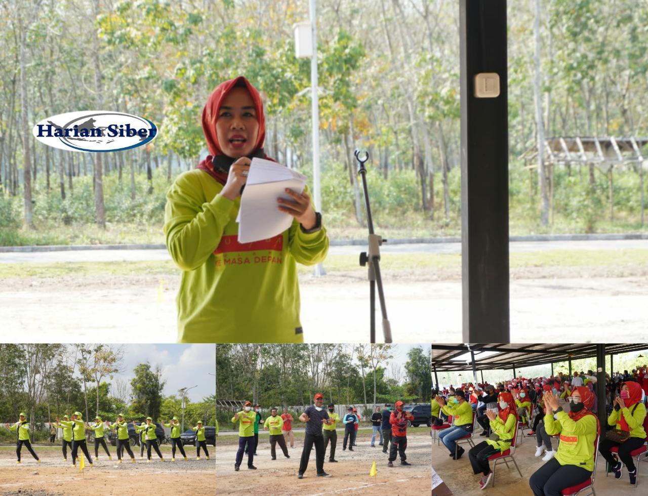 Perwosi Tubaba Gelar Lomba Senam Lampung Berjaya