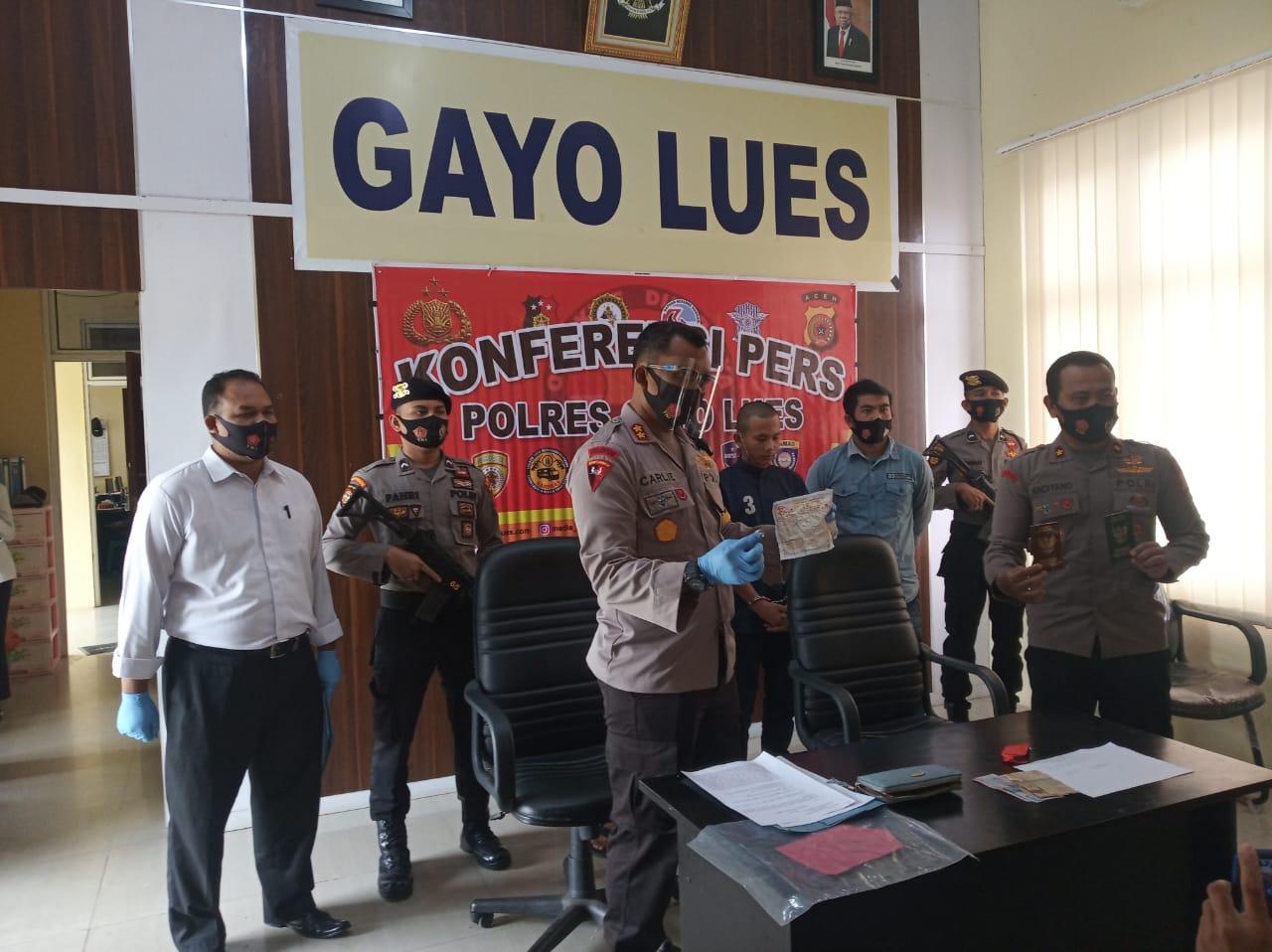Jamred di Gayo Lues, Dua Pemuda Bukit Tusam Agara Ini Ditangkap Polisi