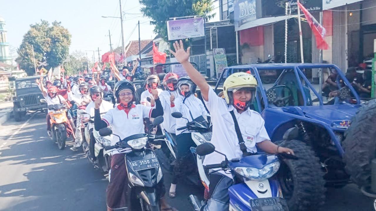 Santri Kota Blitar Tak Mau Kalah Turut Dukung Santoso-Tjutjuk Jadi Walikota yang Amanah