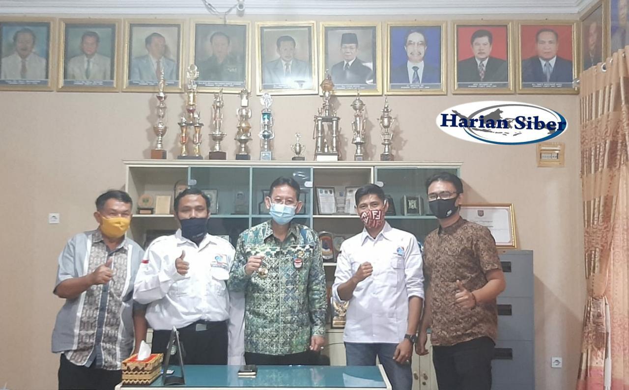 Kunjungi Kantor Inspektorat Provinsi, ini harapan Adi Erlansyah Pembina AJOI Lampung